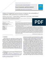 Analysis of Management and Site Factors to Improve the Sustainability Of
