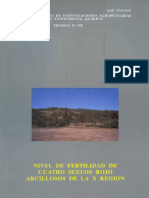 Nivel de Fertilidad de cuatro suelos rojo arcillosos de la X region