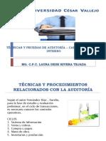 Técnicas y Pruebas de Auditoría – Carta de Control