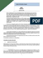 Draft Protocol El Paso