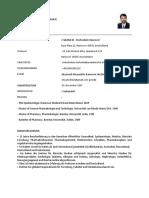 Prof. Dr. Dnyanesh Limaye CV German