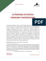 Lo personal es politico. Feminismo y Antiespecismo.pdf