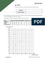 Statistics H Scatter Graphs v2