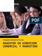 MAGISTER EN DIRECCIÓN COMERCIAL Y MARKETING