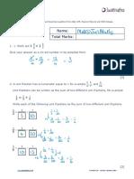 Number H Fractions v2 SOLUTIONS