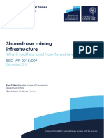 Working Paper -Shared-use Mining Infrastructure