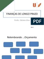 Finanças de Longo Prazo Aula 1