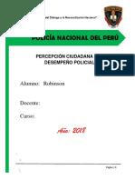"""""""Percepción Ciudadana Del Desempeño Policial"""