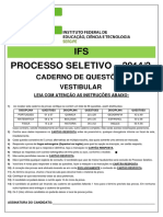 Prova Formatada Vestibular -2014.2