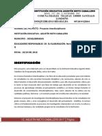 Proyecto de Investigación Interdisciplinario