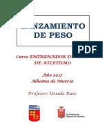 Temario Lanzamiento de peso. Curso FAMU ENTRENADOR DE CLUB.pdf