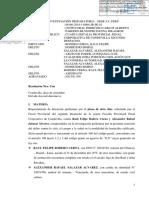Resolución Judicial sobre crimen en SMP