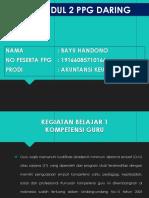 Review Modul 2 & 3 Pedagogik Ppg. Bayu Handono