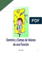 1 Dominio y Campo de Valores de Una Funcion
