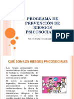 PREVENCIÓN DE RIESGOS PSICOSOCIALES