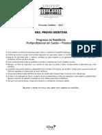 Caderno de Questões - Programa de Residência Multiprofissional Em Saúde - Fisioterapia