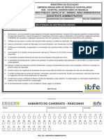 Ibfc 2013 Ebserh Assistente Administrativo Prova
