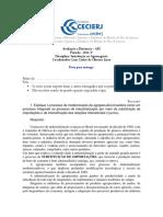 Gabarito AP1 Int. Agronegócio 1-2013 Cederj