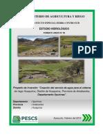 1 Informe de Hidrologia Huaquirca (Anexo Vi ) - Entregable