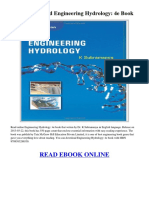 Engineering Hydrology Dr k Subramanya