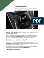 Ventajas Del Cambio Manual