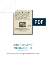 Philosophy - Meditations I and II