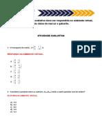 Atividade Algebra Unidade I