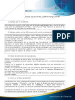 Relación y diferencia de la función jurisdiccional y su límite Cuestionario