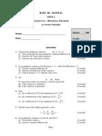 Test 1. Sequences - Binomial Theorem-01