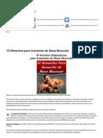 10 Alimentos Para Aumentar de Masa Muscular _ ¿Cómo Aumentar Masa Muscular