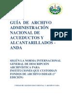 Guía de Organización de Archivo Actualizada. Julio 2017