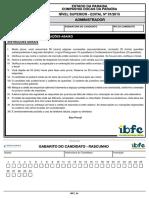 Ibfc 2015 Docas Pb Administrador Prova