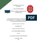Influencia Del Aditivo Sika 1 y Agregado Chancado en La Resistencia a La Compresion y Propiedades