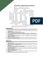 Crucigrama de Corriente Electrica y Magnitudes Electricas (1)