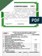 Certificado Operador de Motoserra