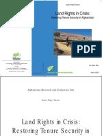 Afghanistan Land Crisis Paper