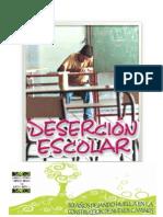 Folleto Desercion Escolar en La i.e.c.p.m durante el 2010