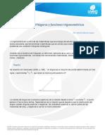 Teorema de Pitagoras y Funciones Trigonometricas
