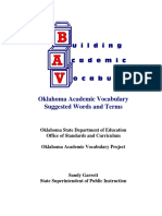 Oklahoma Academic Vocabulary Suggested Words And
