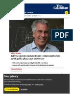 372. Jeffrey Epstein Harvard Donations - Evolutionary Dynamics