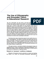 The Use of Ethnography and Grounded Theory in Educational Research
