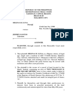Complaint for Forcible Entry and Damages
