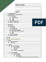 Account Balance Sheet