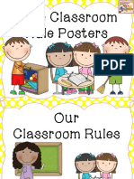 Classroom Rules Free in Chevron and Polkadot s