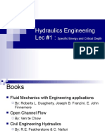 Hydraulics Engineering Lec 1