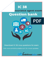 IC 38 Question Bank MCQs PDF