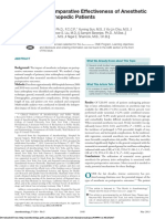 Perioperative Comparative Effectiveness of Anesthetic Technique in Orthopedic Patients