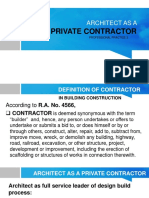 Architect as a Contractor