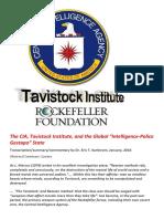 The CIA Tavistock Institute and the Global