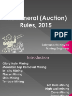 Mineral Auction Rules, 2015